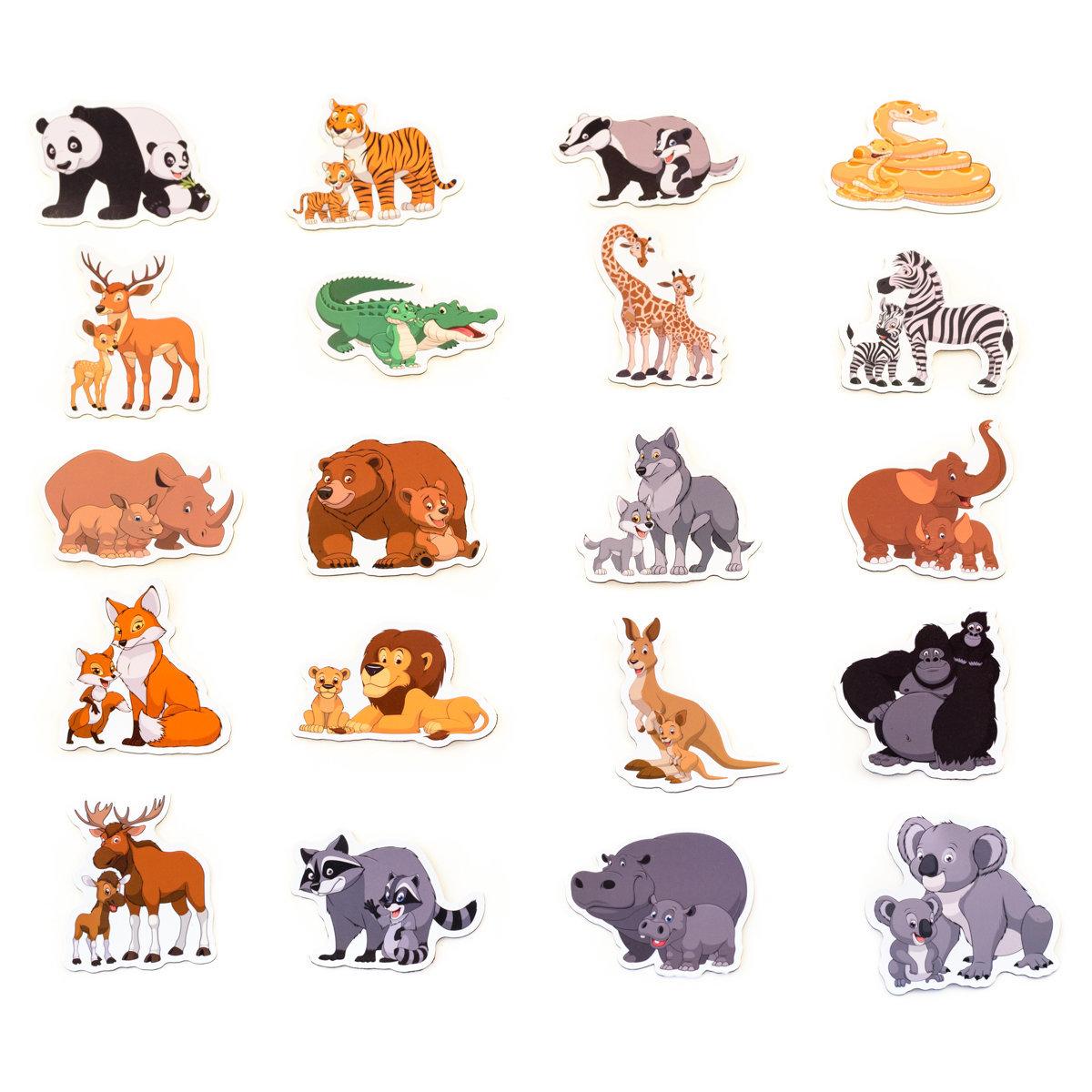 Цветные картинки с изображением животных придумайте