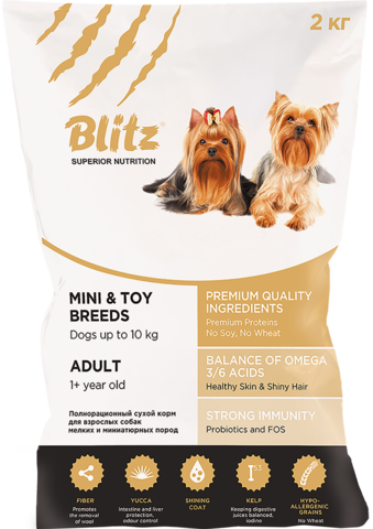 Сухой корм Blitz Adult Mini &Toy Breeds