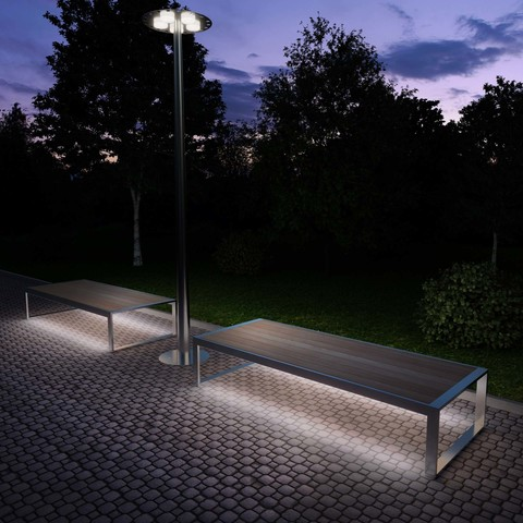 Bench OUTDOOR with lights