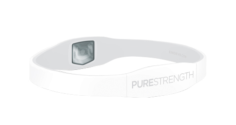 Браслет PURE серии LifeStrength белый/серый
