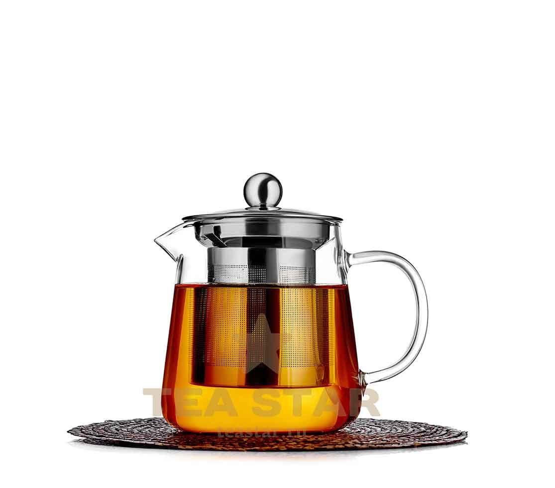 Заварочные стеклянные чайники Чайник заварочный Бостон с колбой, стеклянный, 500 мл chainik_zavarochniy_Godji_500ml.jpg