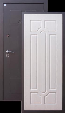 Дверь входная Алмаз Опал 2, 2 замка, 1,5 мм  металл, (чёрный шёлк+беленый дуб)