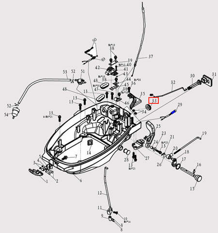 Заглушка 21*31 для лодочного мотора F9.8 Sea-PRO (2-33)