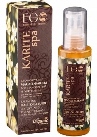EO Laboratorie Karite Spa Балансирующее масло-флюид для волос
