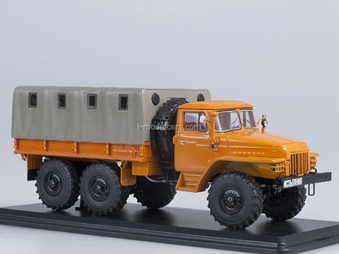 Ural-375D board with awning orange 1:43 Start Scale Models (SSM)