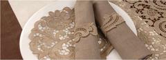 Салфетки 35х50 Weissfee Paradise золотые