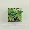 "Подарочная коробочка с бантиком ""Цветы"" (цвет - зеленый), 40х40х30 мм (темные)"