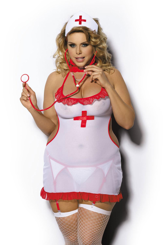 Ролевой костюм медсестры большого размера для эротических игр взрослых (Медсестры)