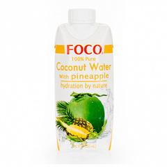 Кокосовая вода с соком ананаса FOCO, 330 мл