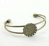 Основа для браслета с сеттингом для кабошона 20 мм, 13 см  (цвет - античная бронза)