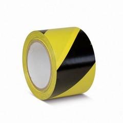 Лента для разметки ПВХ 75мм х 30м желто-черная (KMSW07533)