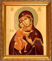 Феодоровская икона Божией Матери на холсте.
