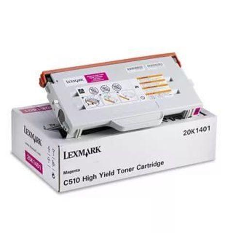 Тонер-картридж для принтеров Lexmark C510 пурпурный (magenta). Ресурс 6600 стр (20K1401)