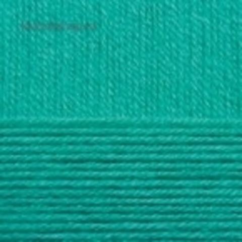 Пряжа Детская новинка (Пехорка) цвет 335 изумруд купить в интернет-магазине