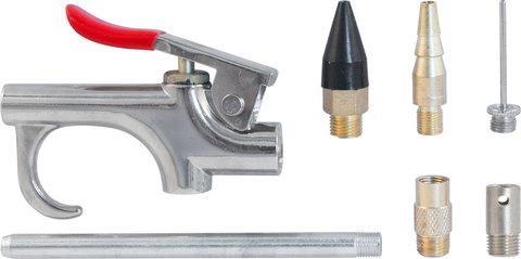 Пистолет продувочный с насадками в наборе, 7 предметов