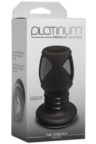 Анальный тоннель Platinum Premium Silicone - The Stretch с отверстием (10,60х5,00 см)