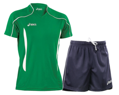 Волейбольная форма Asics Volo Zone мужская зеленая