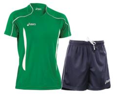 Мужская волейбольная форма Asics Volo Zone (T604Z1 8001-T605Z1 0050) зеленая