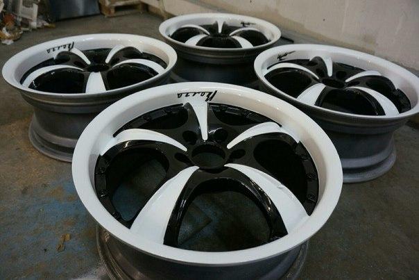 Покраска колесных дисков (4 шт.) фото-2