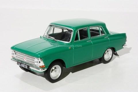 Moskvich-408 green 1:43 DeAgostini Kultowe Auta PRL-u #25