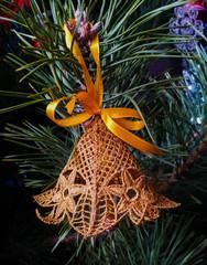 Колокольчик на елку с бубуенчиком (цвета на выбор)