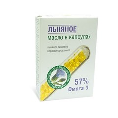 Масло льняное, Компас Здоровья, 180 капсул, 54 г