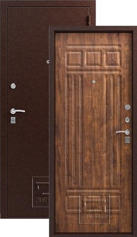 Дверь входная Зевс Z-4, 2 замка, 1,5 мм  металл, (медь+античный дуб)