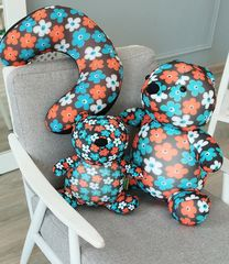 Подушка-игрушка антистресс «Цветочный Мишка» 5