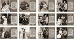 12 ретро почтовых открыток «Николай II и Александра Федоровна. Слова о любви» в наборе