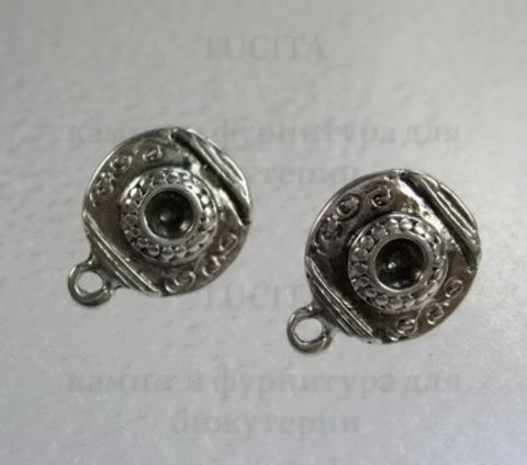Пуссеты- гвоздики круглые 16 мм (цвет - античное серебро) (без заглушек) ()