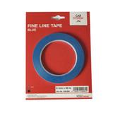 Контурная маскирующая лента виниловая,для дизайна сложных рельефных поверхностей,синяя 6мм/33мм