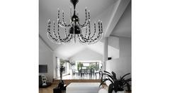 Italamp 392 12+6 Black White C Domestic Glass — Потолочный подвесной светильник SENSAI