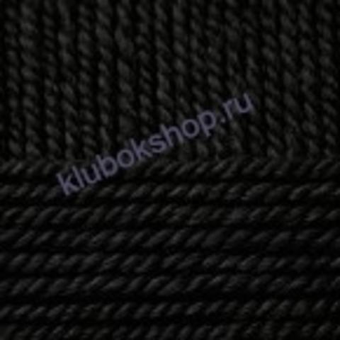 Пряжа Осенняя (Пехорка) цвет 02 черный