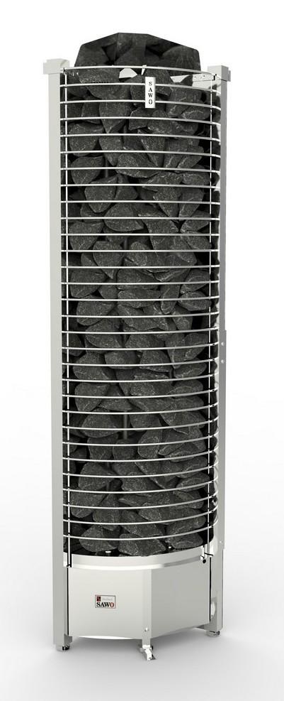 Серия Tower: Электрическая печь SAWO TOWER TH6-90NS-CNR-P (9 кВт, выносной пульт, угловая)