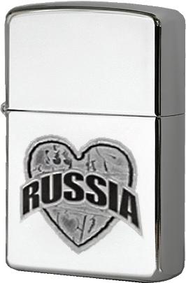 Зажигалка Zippo №250 I love Russia