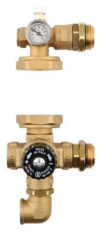 Насосно-смесительный узел Stout без насоса с термостатическим клапаном SDG-0020-001000
