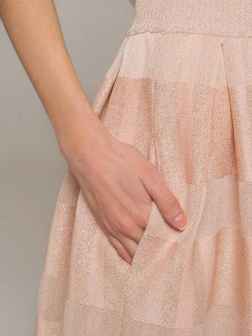 Женская юбка миди персикового цвета - фото 4