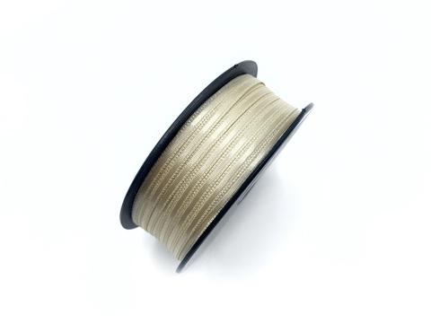 Атласная лента 3,5 мм, светло-телесная