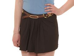 2068 юбка темно-коричневая