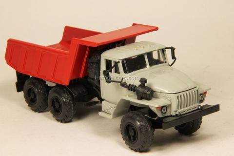 Ural-55571 tipper gray-red Elecon 1:43