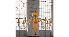 Italamp 391 4+4 Amber OP — Потолочный подвесной светильник