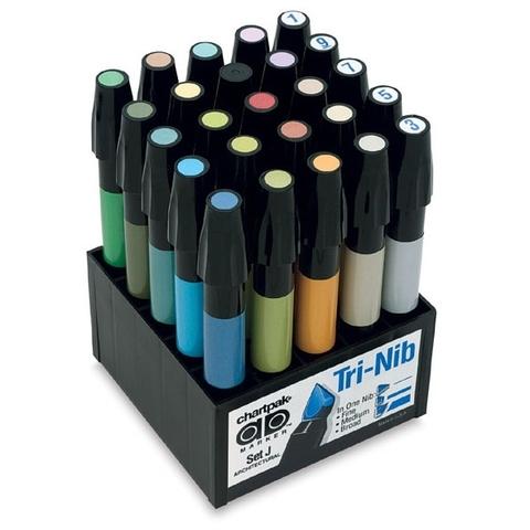 Набор маркеров CHARTPAK ARCHITECTURAL, для архитекторов, 25 цветов