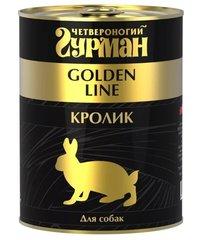 Четвероногий Гурман Golden Line для собак Кролик натуральный в желе