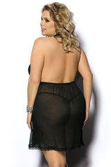 Черная эротическая сорочка большого размера
