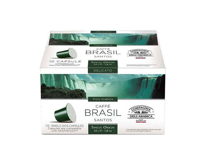Кофе в капсулах Compagnia Dell'Arabica Brasil Santos, 10 капсул (Компания Дель Арабика)