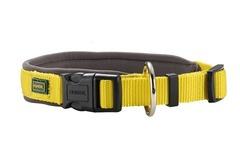 Ошейник для собак Hunter Neopren Vario Plus 65 (60-65)/3,8 см нейлон/неопрен желтый/бежевый