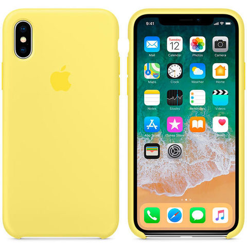 iPhone X Silicone Case Lemonade