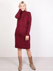 Евромама. Платье вязаное для беременных и кормящих, бордо
