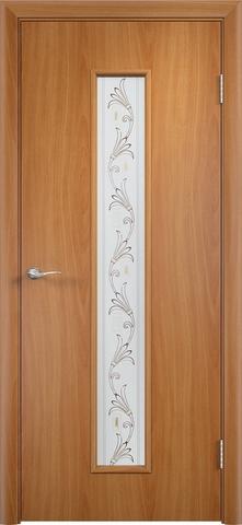 Дверь Верда C-21 (вьюн), цвет миланский орех, остекленная