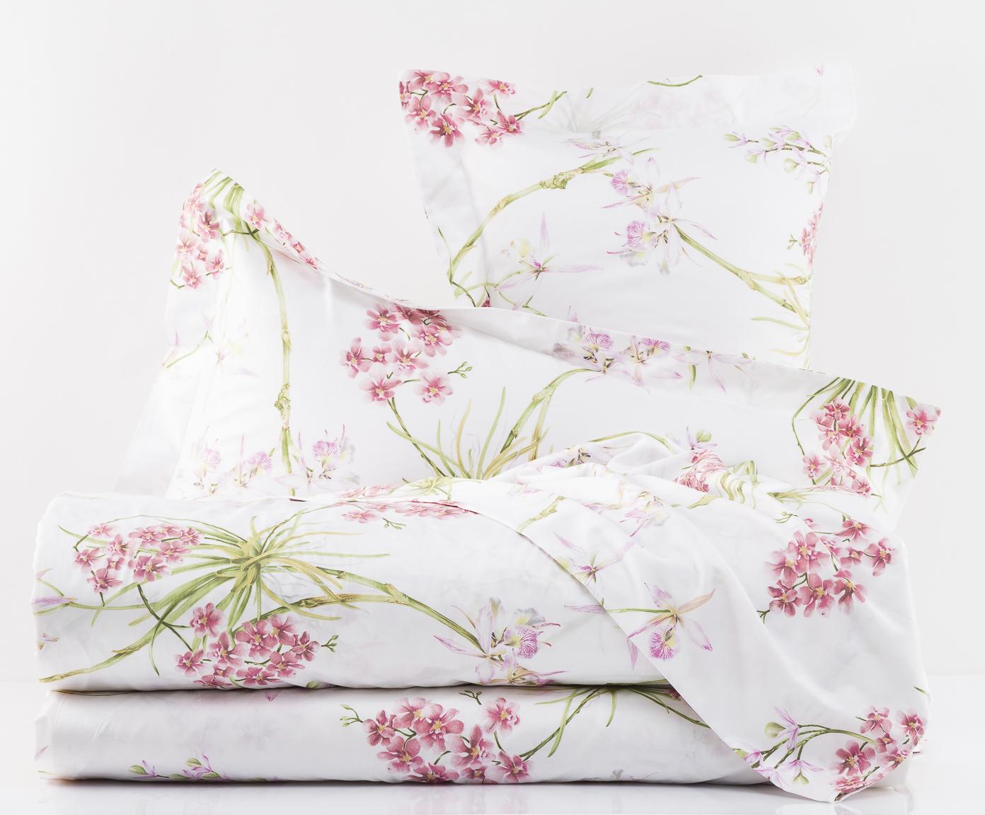 Постельное белье 1.5 спальное Mirabello Orchidee розовое